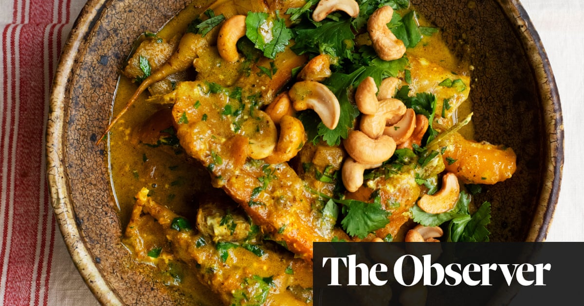 Nigel Slater's recipes for carrots with cashews, and with basil cream