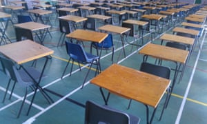 A school exam hall