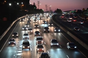 The congested 101 freeway in Los Angeles. The US president, Donald Trump, is expected to revoke a decades-old rule that empowers California to set tougher car emissions standards than those required by the federal government