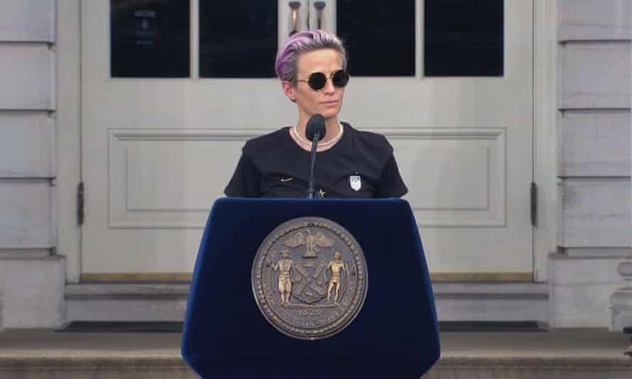 Megan Rapinoe in a still from LFG. It's clear that the team's campaign for equality will continue, regardless of the cameras' presence.