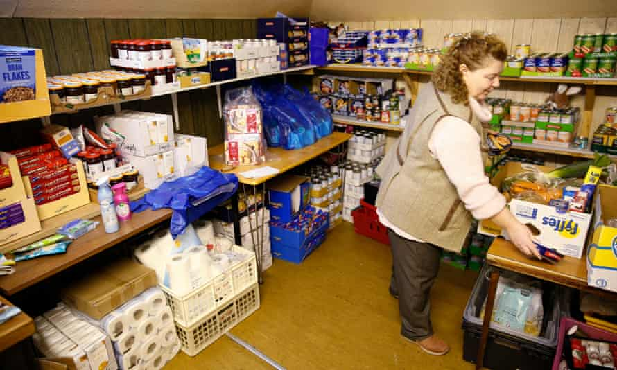 Rothesay food bank on the Isle of Bute.