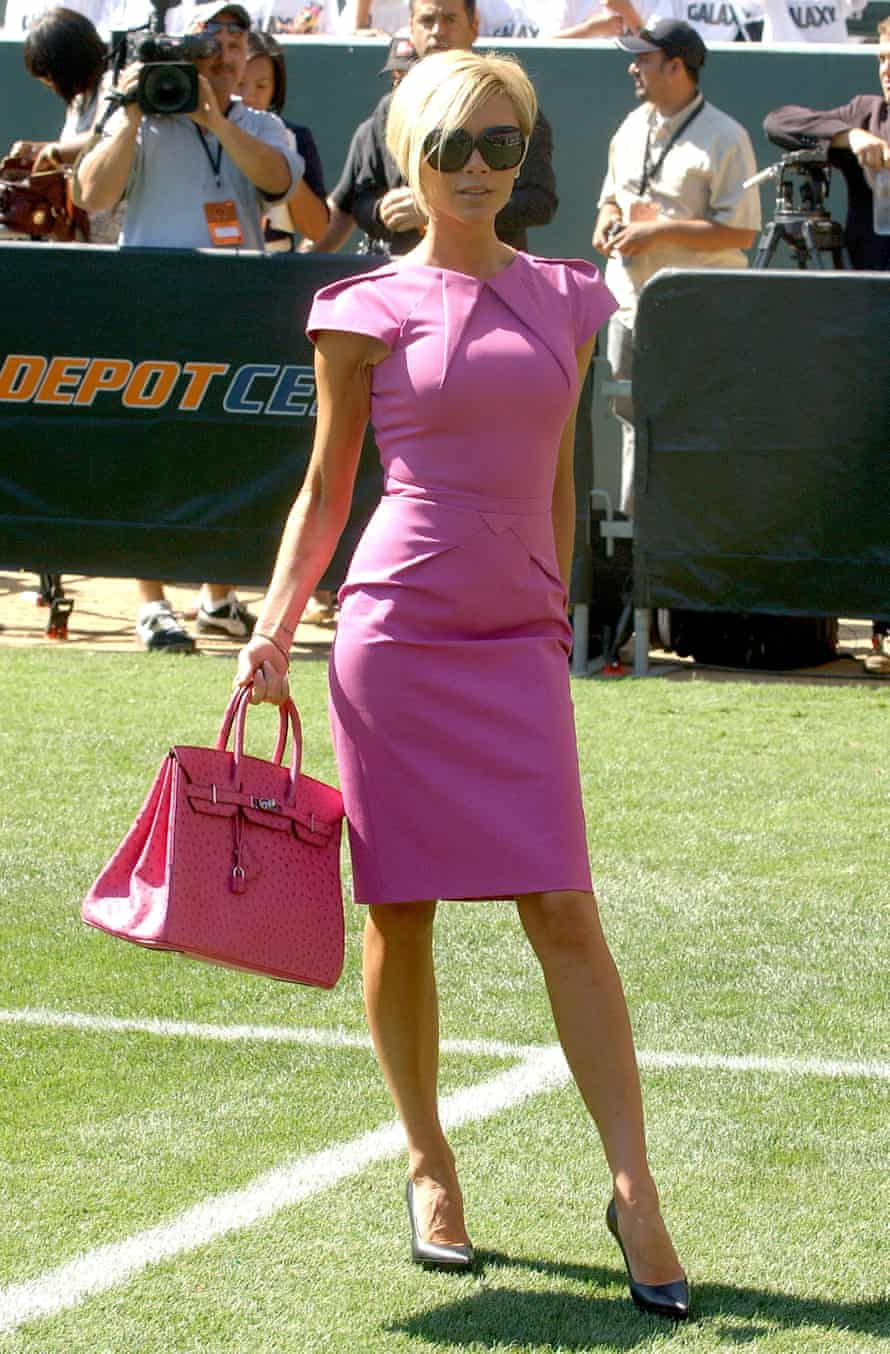 Victoria Beckham in Roland Mouret's famous Galazy dress.