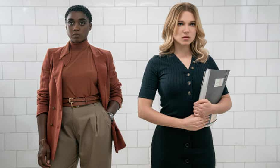 Lashana Lynch and Lea Seydoux in No Time to Die.