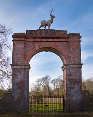 The Five-Legged Stag gate on the Drax estate in Dorset.