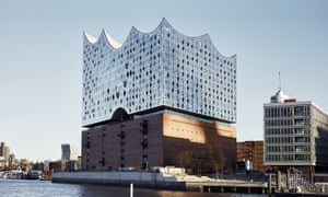 Hamburg's new Elbphilharmonie, 'a crystalline palace for music in the air, albeit on top of a large warehouse'.