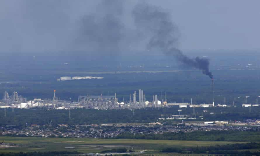 Houston's petrochemical industry has leaked more than 2,700 tons of extra air pollution in connection with Hurricane Harvey.