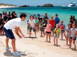 Roger Federer on Rottnest