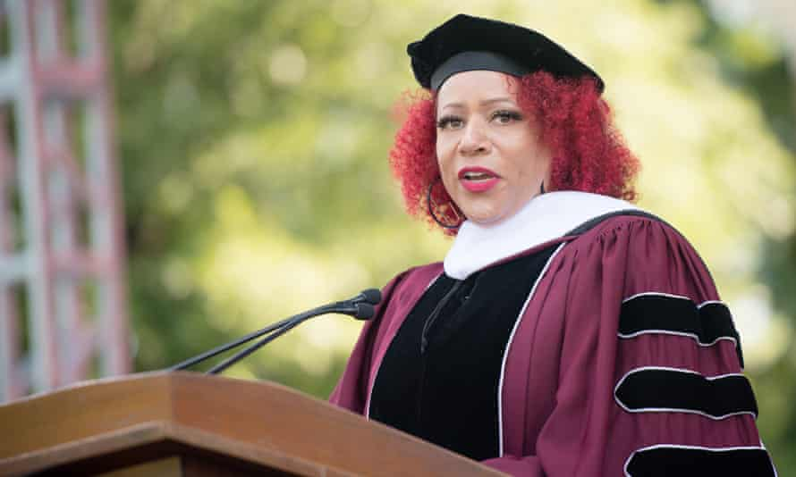 Author Nikole Hannah-Jones speaks during the 137th commencement at Morehouse College in Atlanta, Georgia, in May.