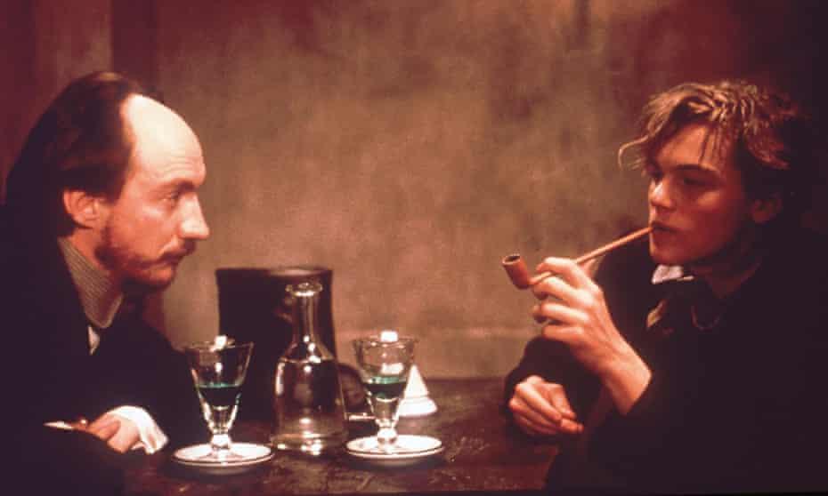 David Thewlis, left, as Paul Verlaine and Leonardo DiCaprio as Arthur Rimbaud in Agnieszka Holland's 1995 film Total Eclipse.