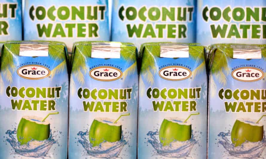 cartons of coconut water