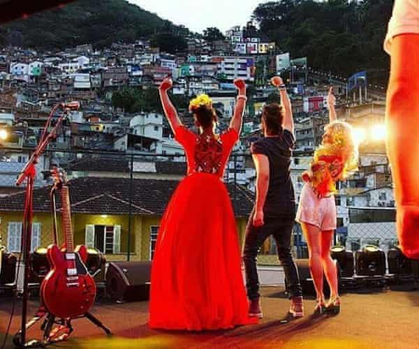 Yemi Alade, Luan Santana and Pixie Lott perform in the Santa Marta favela