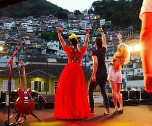 Yemi Alade, Luan Santana and Pixie Lott perform in the Santa Marta favela