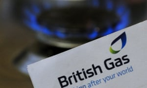 British Gas letter next to a gas flame