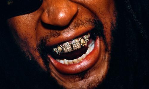 Mouth full of bling: Lil Jon's diamond dentistry.