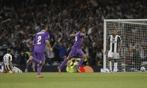 Casemiro celebrates after putting Real Madrid back in front.