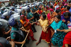 A protest in Dhaka, Bangladesh