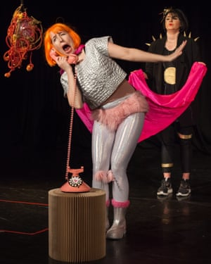 Rhiannon Faith and Maddy Morgan in the 'goofball' Scary Shit at the Pleasance, London.