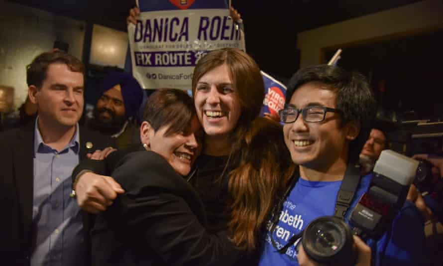 Danica Roem, the first openly transgender candidate elected, won in Virginia.