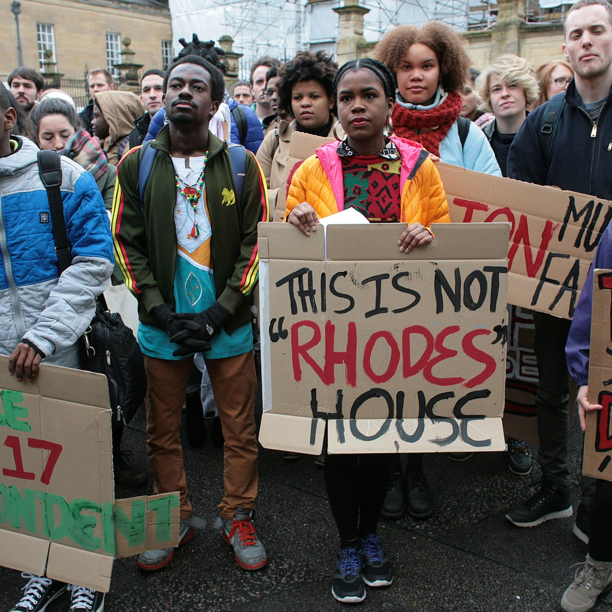 Take it down!': Rhodes Must Fall campaign marches through Oxford ...