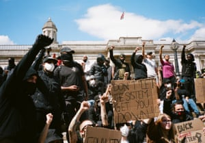 Black Lives Matter protest in London over the weekend