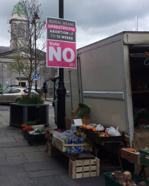 A sign against repealing the eighth amendment in Roscommon, Ireland