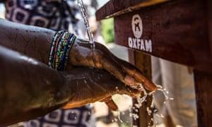 A handwashing station in Tengbeh Town, Freetown, Sierra Leone