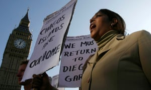 Demonstrator demanding her return to the Chagos Islands during a protest outside the Houses of Parliament