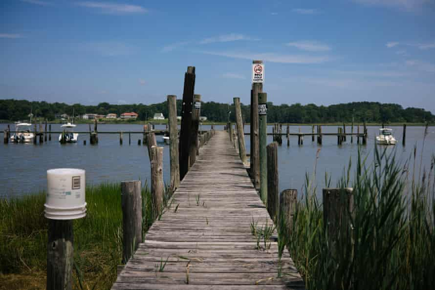 A dock that gives access to the Chuckatuck Creek and James River.