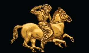 A gold plaque depicting a Scythian rider, from the British Museum's new exhibition