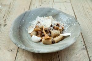 Cep gnocchi with wild mushroom. Sorella Restaurant, Clapham, London
