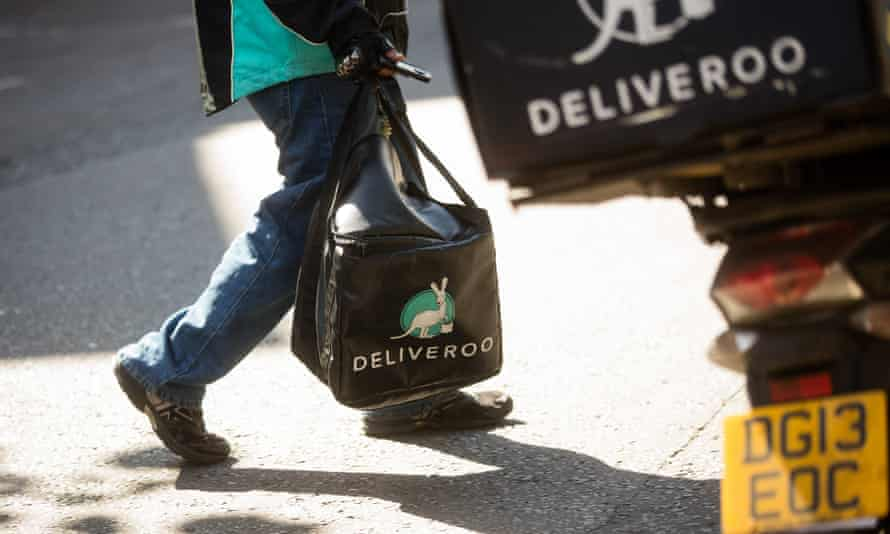 a Deliveroo bag and scooter