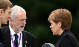 Sturgeon talking to Jeremy Corbyn in 2016.