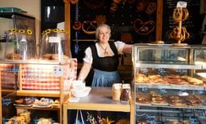 Angelika Searle at Pretzel & Spelt Bavarian bakery in Tonge, Bolton.