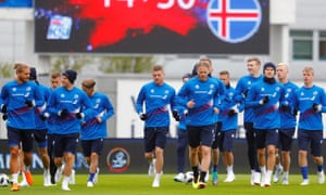 Iceland's footballers prepare for the finals, before decamping to the Black Sea resort of Gelendzhik.