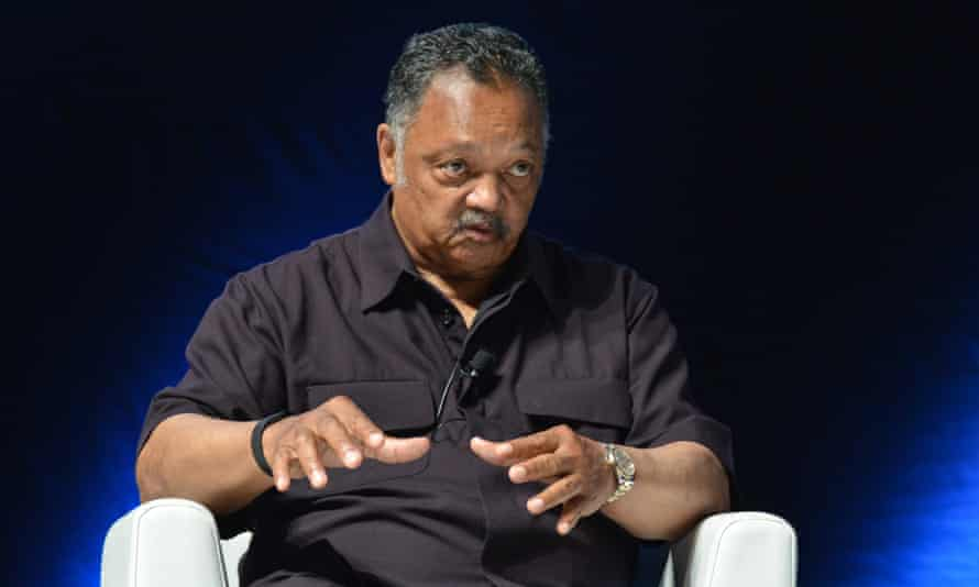 Reverend Jesse Jackson on stage at Cannes Lions 2017.