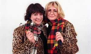 Caroline Quentin and Caroline Aherne attending An Audience with Rod Stewart in 1998