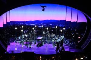 US singer John Legend performs songs from the film La La Land