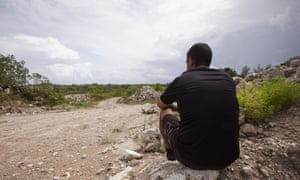 A refugee on Nauru, who would be prevented from ever visiting Australia under the Coalition's proposed lifetime ban.