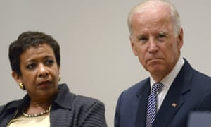 Attorney general Loretta Lynch appeared with Joe Biden in New York to announce the $79m initiative.
