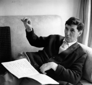 Tippett at home at Corsham, Wiltshire, in 1964