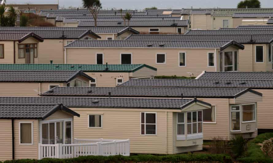 Static caravans on a holiday park in Cornwall.