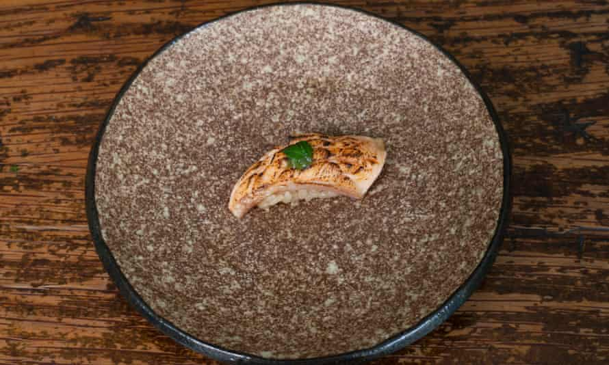 'A Thai basil miso you could dab behind your ears': seared trout belly.