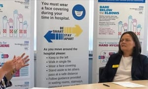 Hillingdon hospital chief executive Sarah Tedford pictured at a Q&A session