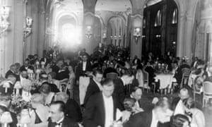 The restaurant of the Ritz Hotel, Paris, around 1930.