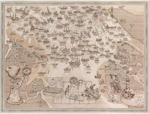 Adam Dant's map of the Thames estuary wrecks