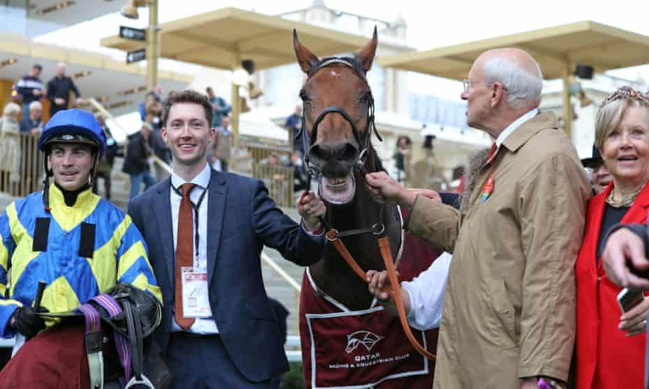 Trueshan with James Doyle and connections after winning the Prix du Cadran
