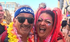Nic Grecas and Tonia Semeraro at Luminosity beach festival in the Netherlands in 2018.