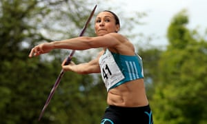 Golden girl: Jessica Ennis-Hill competes in the women's javelin event during the Loughborough International Athletics, May 2016.