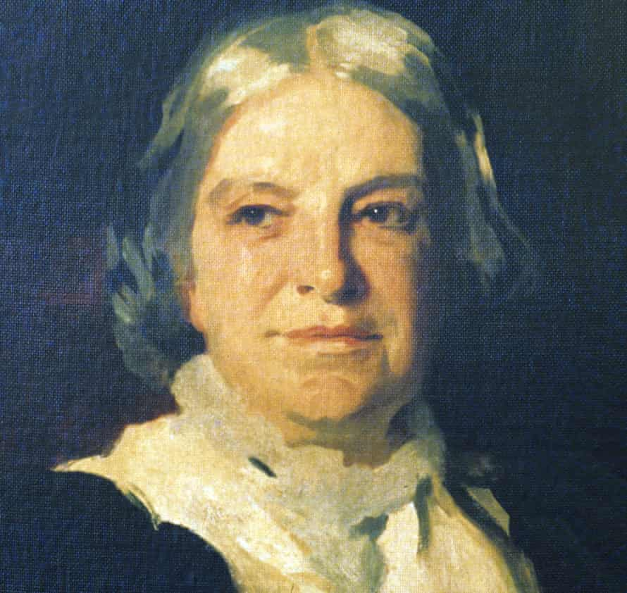 A detail from a painting by John Singer Sargent of English social reformer Octavia Hill