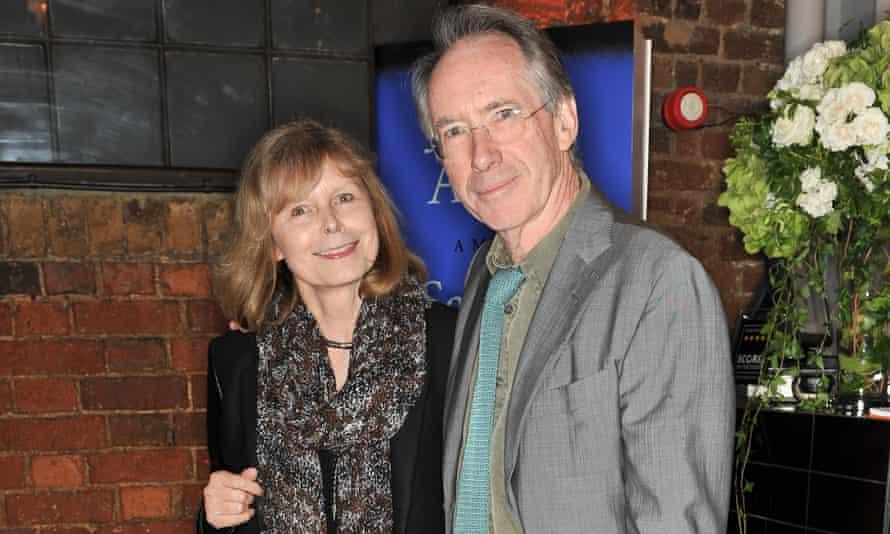 McAfee with her husband, Ian McEwan, 2012.